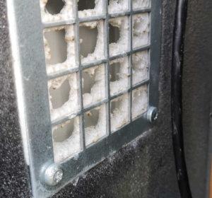 Sulanud õhutusresti filter