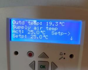 Liiga kõrge sissepuhke- temperatuur